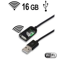 WiFi-LAN USB-Kabel Keylogger, 16 Gb