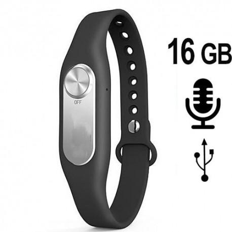 Armband SPY-Recorder 16 GB. Bestellen bei www.abhoergeraete.com