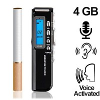 Mini-Voice-Recorder, 4 GB, bis 600 Stunden (voice-activated)