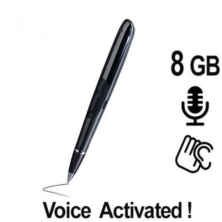 Kugelschreiber HD SPY-Recorder, 8GB, Voice-Activated. Bestellen bei www.abhoergeraete.com