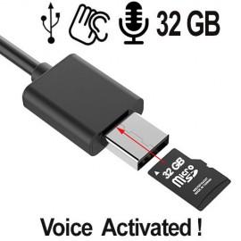 USB-Kabel Spionagerecorder als Spionagrecorder praktisch nicht erkennbar !