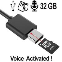 USB-Kabel Spionagerecorder