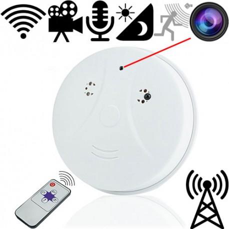 IP-LAN SpyCam im Rauchmelder. Steuerbar per App für Android und iOS.
