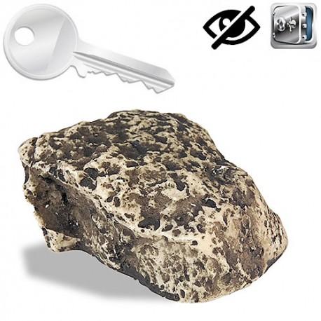 Geheimversteck in Stein- ideal für den Ersatzschlüssel.