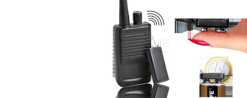 Funkbasierte Abhörgeräte (Wanzen) übertragen Gesprächsdialoge drahtlos in Räume über mehr oder weniger weite Funkstrecken.