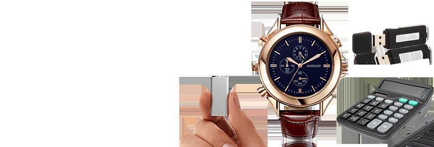 Kleinste Digital-Voicerecorder, als perfekte Abhörgeräte oder als Zusatzgerät um das Ergebnis eines Lauschangriffs zu speichern.